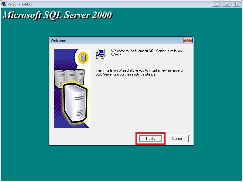 نصب اسکیوال سرور 2000